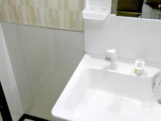 洗面リフォーム 防水仕様の洗面化粧台