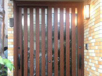 エクステリアリフォーム 開け閉めがしやすく、ペアガラスで断熱効果もバッチリな玄関ドア